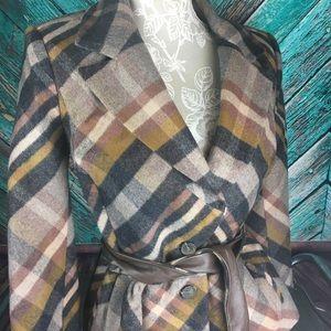 Classiques Entier Plaid Wool Blend Jacket